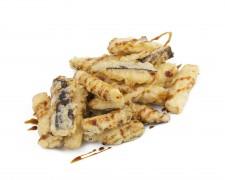 Berenjenas en tempura con salsa de miel